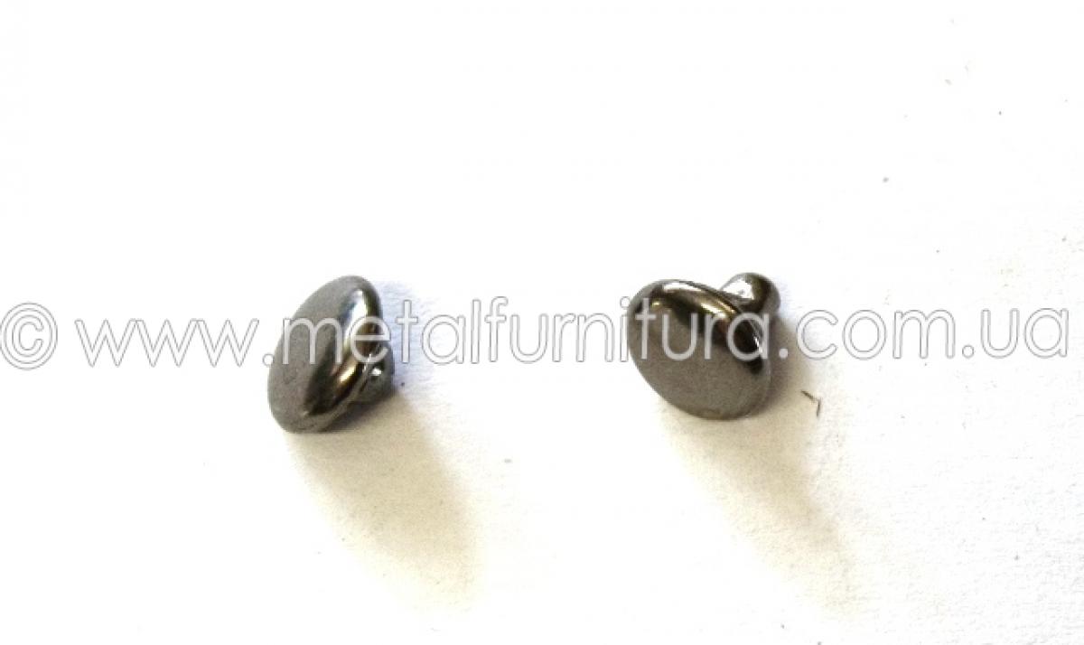 Хольнитены двусторонние 7х8 мм темный никель
