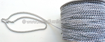 Цепочка серебро № 6d