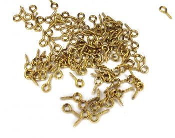 Крючок мелкий золото код (в-248)