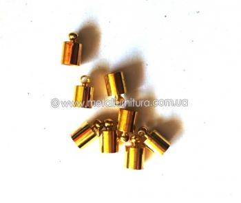 Концевик для ожерелья,шнура Z8.золото (уп.50шт)