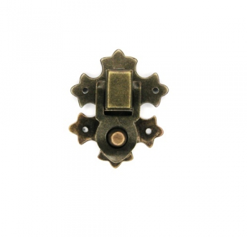 Защіпка на спружині стара латунь Z9