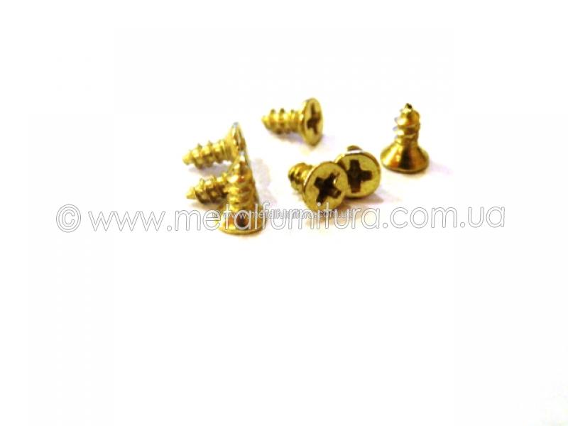 Шурупы золото 6ммx2мм