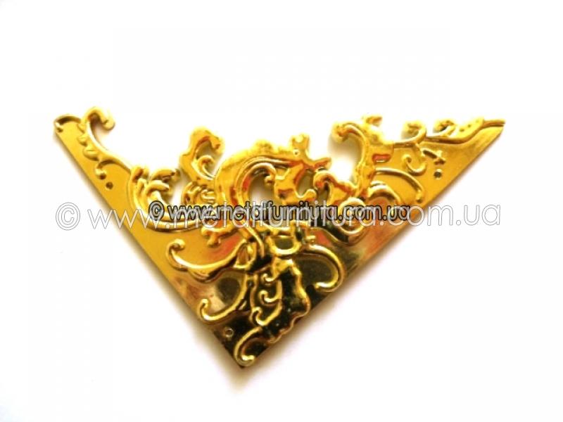 Уголок С-040 пластиковый золотой