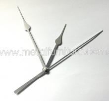 Стрелки для часового механизма №19 серебро(уп.10шт)