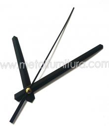 Стрелки для часового механизма G1038 чёрные(уп.10шт)