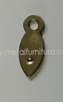 Вушко для рамки метал D-039 срібло (уп.100шт)