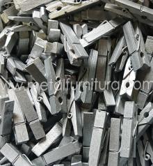 Прищепка декоративна срібна 35мм (уп.10шт)