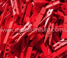 Прищепка декоративна червона 35мм(уп.10шт)