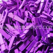 Прищепка декоративна фіолетова 35мм(уп.10шт)