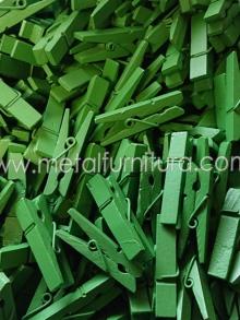 Прищепка декоративна зелена 35мм(уп.10шт)