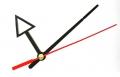 Стрілки для годинникового механізму А626 чорно-червоні