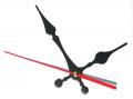 Стрілки для годинникового механізму G1018 чорні з червоним(уп.10шт)