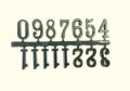 Арабские цифры для часов C2