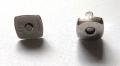 Кнопка магнитная 2306 серебро(уп.10шт)
