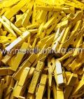 Прищепка декоративна жовта 35мм(уп.10шт)